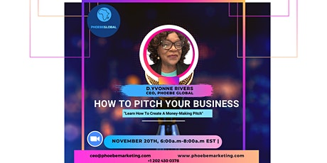 How to Pitch Your Business tickets