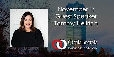 VIRTUAL Oak Brook Meeting November 1: Guest Speaker Tammy Helfrich