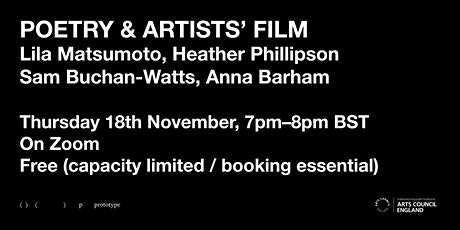 POETRY & ARTISTS' FILM: tickets