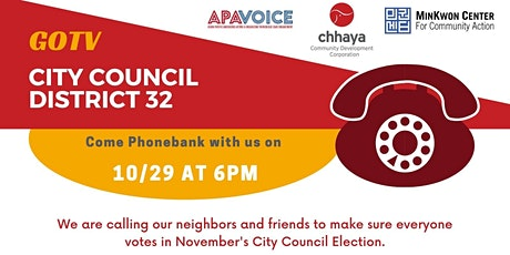 GOTV - City Council District 32 - Phonebanking 3 tickets