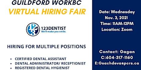 Guildford WorkBC Virtual Hiring Fair – 123Dentist tickets