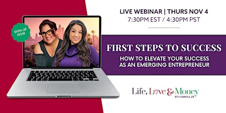 HOW TO ELEVATE YOUR SUCCESS AS AN EMERGING ENTREPRENEUR - FREE WEBINAR tickets