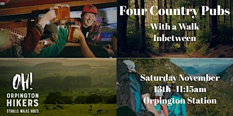 Four Country Pubs With A Walk In Between! tickets