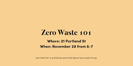 How to: Zero Waste Living tickets
