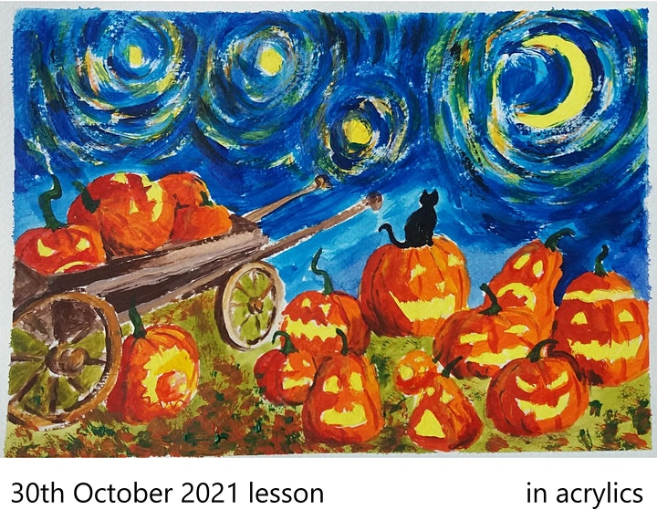 PAINTING for TEENS & ADULTS - every Saturday - [LIVE in ZOOM] image