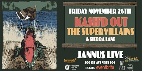 Kash'd  Out VIP Package - St. Pete - Jannus Live tickets
