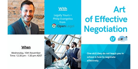 Art of Effective Negotiation tickets