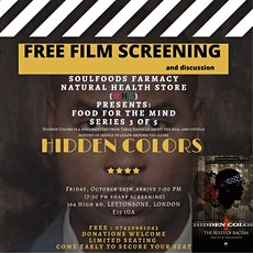 Black History Month: Free Film screening Hidden Colours 3 tickets