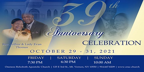 Anniversary Weekend   Awards Service   Saturday October 30th tickets