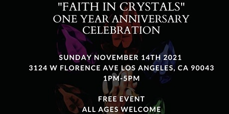 Faith In Crystals 1 Year Anniversary tickets