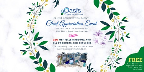 13 Nov, 2021  CLIENT APPRECIATION EVENT 20% OFF tickets