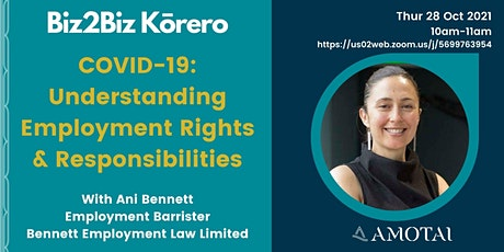 COVID-19: Understanding Employment Rights & Responsibilities tickets