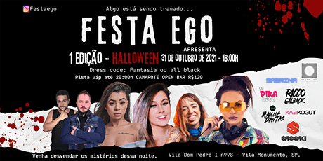 FESTA EGO - Halloween ingressos