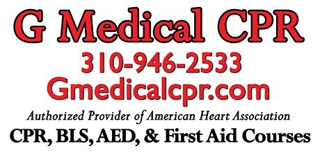 CPR And First Aid Certification Los Angeles tickets