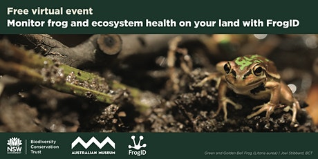 Monitor frog and ecosystem health on your land with FrogID tickets