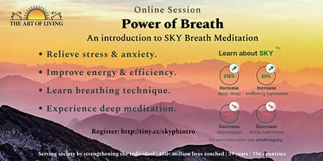 Power of Breath: An introduction to SKY Breath Meditation tickets