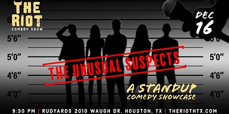 """The Riot Standup Comedy Show  presents """"The Unusual Suspects"""" tickets"""