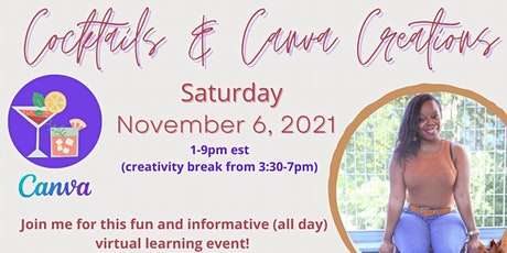 COCKTAILS & CANVA CREATIONS!  tickets