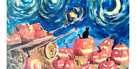 Halloween painting for KIDS - [LIVE in ZOOM] tickets