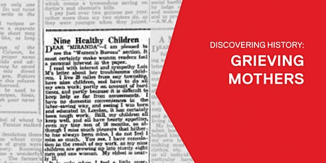 Discovering History: Grieving Mothers tickets