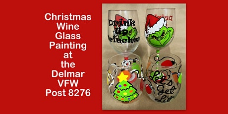 Christmas Wine Glass Painting at the Delmar VFW Post 8276 tickets