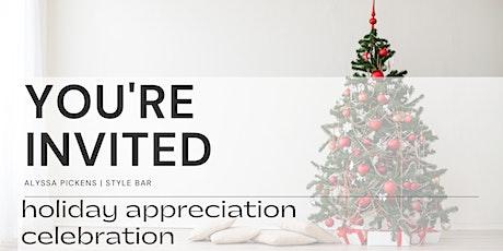 Holiday Appreciation Celebration   Alyssa Pickens Style Bar tickets