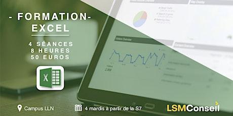 Formation Excel par LSM Conseil billets