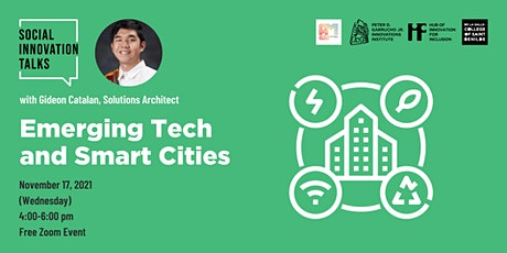 Social Innovation Talks: Emerging Tech and Smart Cities tickets