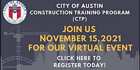 City of Austin Construction Training Program November 2021 Event tickets