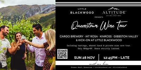 Altitude Tours X Little Blackwood Queenstown Wine Tour tickets