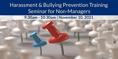 ECJ Harassment & Bullying Prevention Training Seminar for Non-Managers tickets