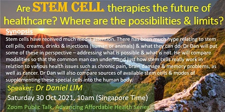 Are Stem Cell Therapies The Future Of Healthcare? Possibilities & Limits? tickets