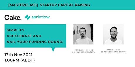 [Masterclass] Capital Raising for Startups ingressos