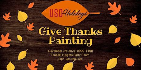 USO Yokosuka Give Thanks Painting tickets
