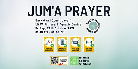Jum`a (Friday) Prayer by ISOC UNSW: Friday 29th October 2021 at Uni  Gym tickets