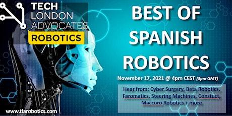 """TLA Robotics webinar: """"Best of Spanish Robotics"""" tickets"""