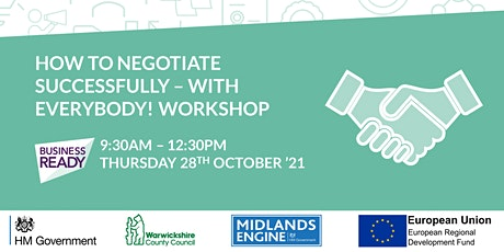 How to Negotiate Successfully - with Everybody! Webinar tickets