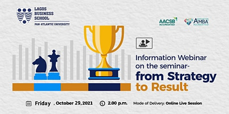 Information Webinar  on The Programme: From  Strategy To Result tickets