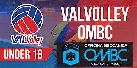 [UNDER 18] ValVolley OMBC - Volley Academy BM Carrozzerie biglietti