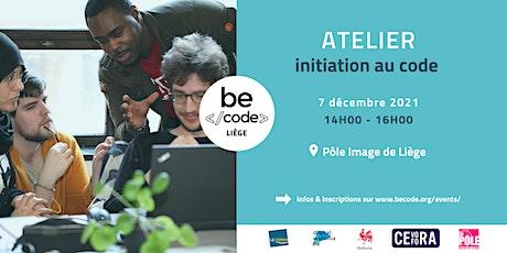 BeCode Liège - Atelier Initiation Coding billets