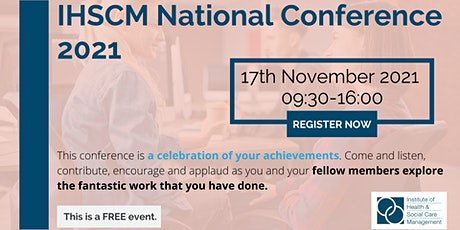 IHSCM National Conference 2021 tickets