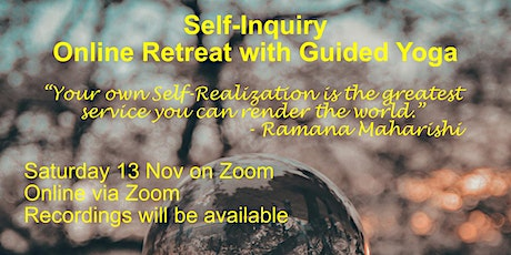 Self-Inquiry Online Retreat with Yoga tickets
