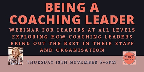 Being a Coaching Leader tickets