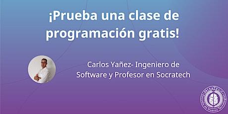 Copia de ¡Prueba una clase de programación gratis! entradas