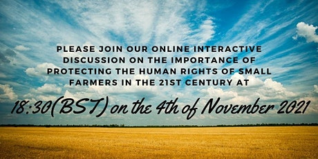Webinar: Why small farmers around the globe are on the brink of extinction? tickets