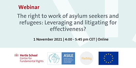 The right to work of asylum seekers and refugees tickets