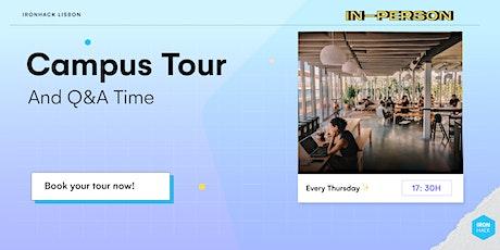 Lisbon Campus Tour & Chat tickets