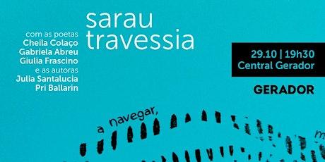 Sarau de poesia | Travessia bilhetes
