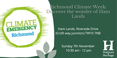 Richmond Climate Week: Discover the wonder of  Ham Lands tickets
