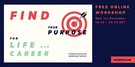 Free online workshop: Find your purpose for life and career tickets
